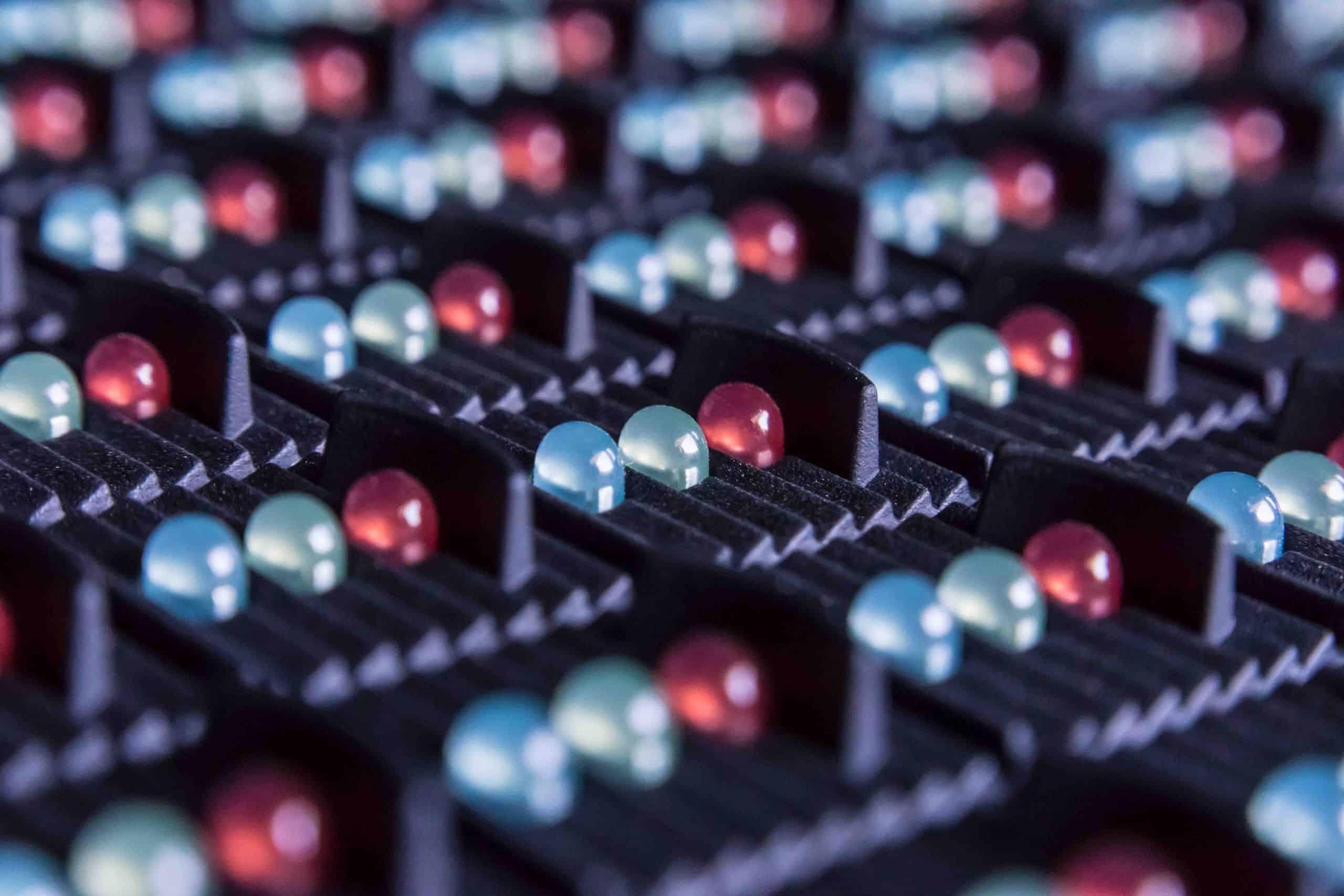 Macro Bild einer LED Schaltung von Elektro Janssen